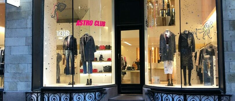 mise en place vitrine magasin Maje